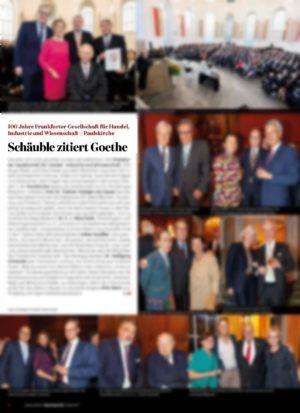 100 Jahre Frankfurter Gesellschaft für Handel, Industrie und Wissenschaft