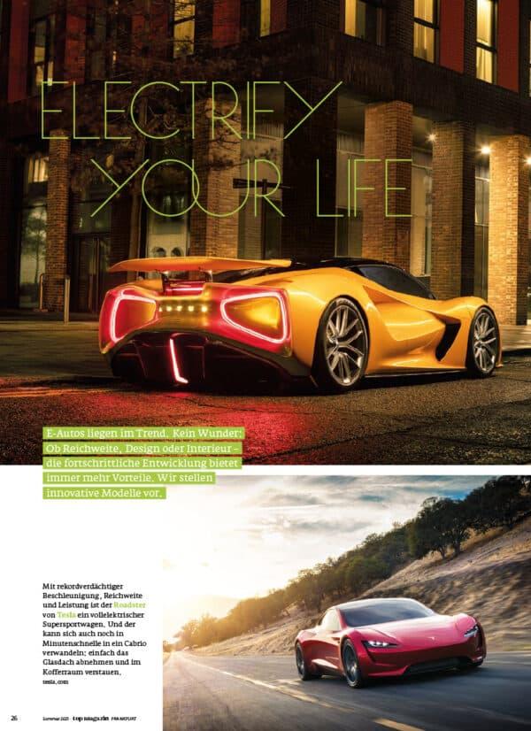 Top Magazin Frankfurt, Ausgabe Sommer 2021 - Electrify your life