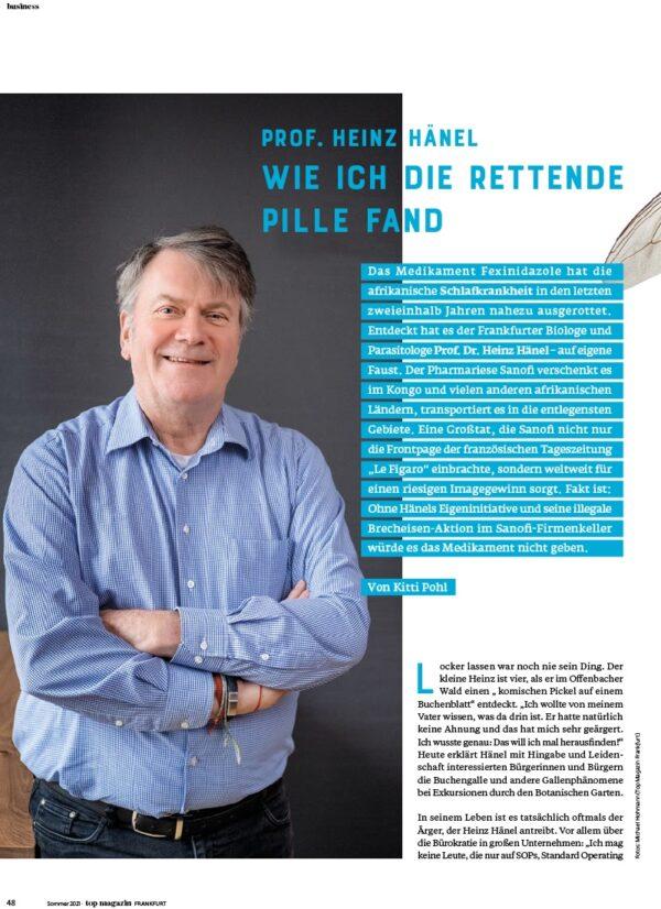 Top Magazin Frankfurt, Ausgabe Sommer 2021 - Heinz Hänel