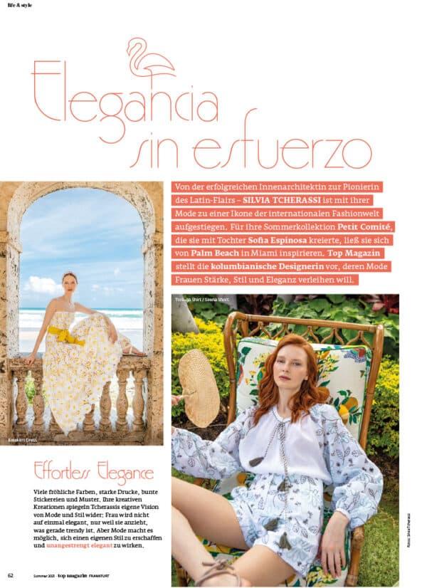 Top Magazin Frankfurt, Ausgabe Sommer 2021 - Silvia Tcherassi