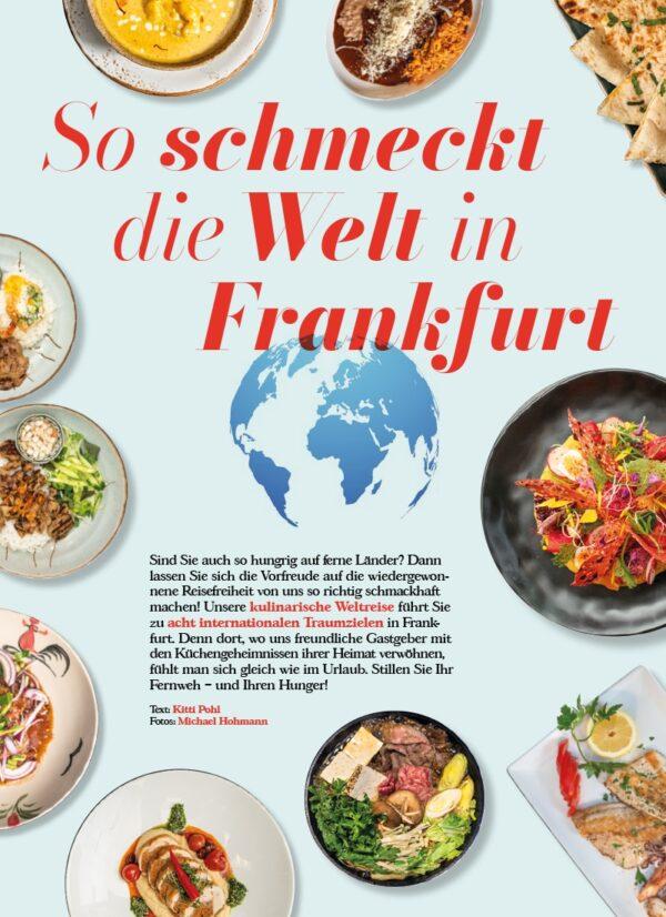 Top Magazin Frankfurt, Ausgabe Sommer 2021 - So schmeckt die Welt in Frankfurt