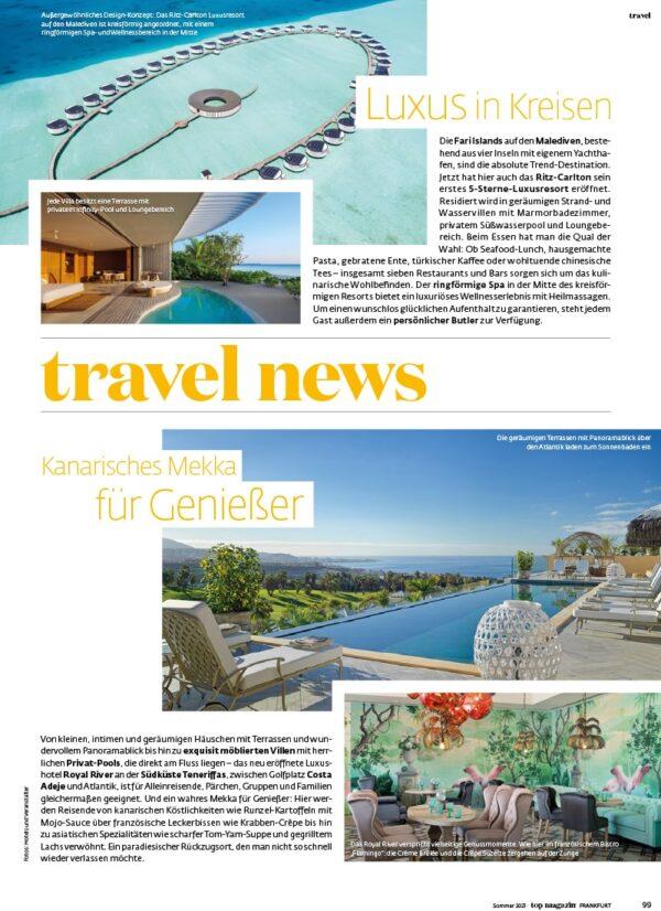 Top Magazin Frankfurt, Ausgabe Sommer 2021 - Travel News