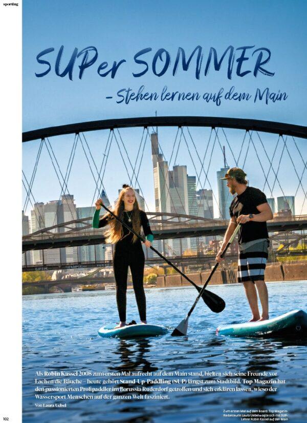 Top Magazin Frankfurt, Ausgabe Sommer 2021 - Trend Stand Up Paddeling