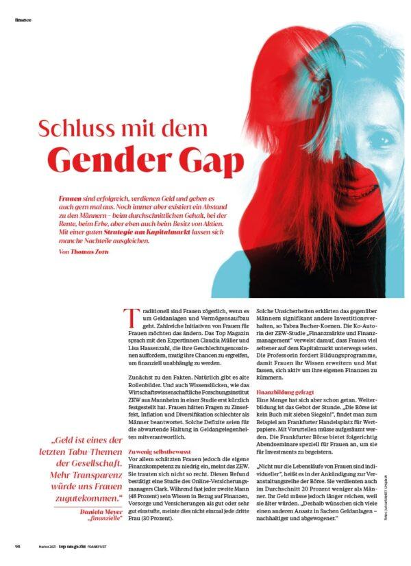 Top Magazin Frankfurt, Ausgabe Herbst 2021, Investments für Frauen