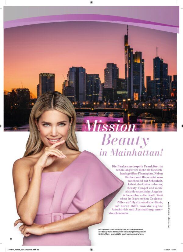 Top Magazin Frankfurt, Ausgabe Herbst 2021, Mission Beauty