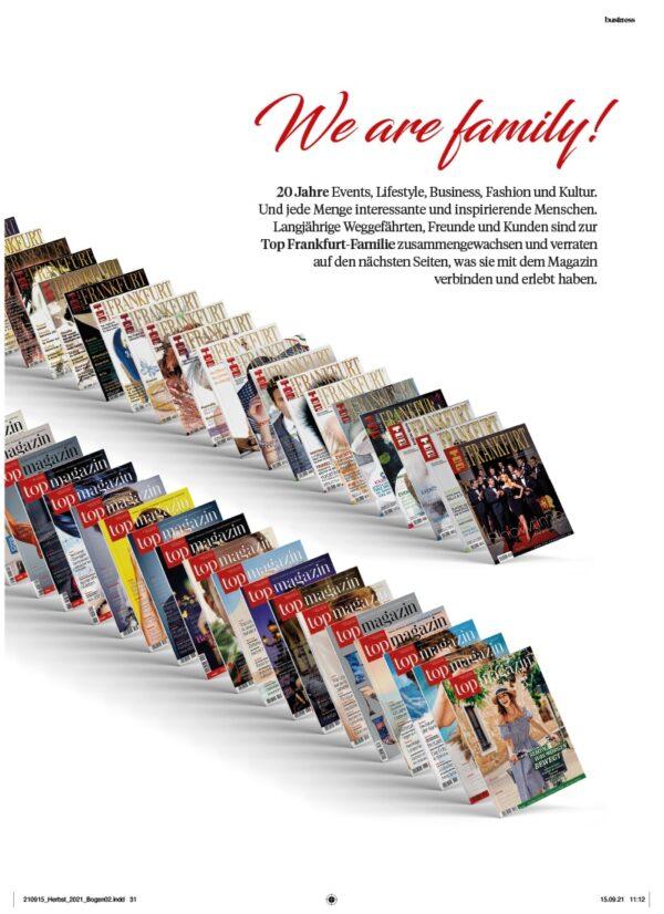 Top Magazin Frankfurt, Ausgabe Herbst 2021, We are Family