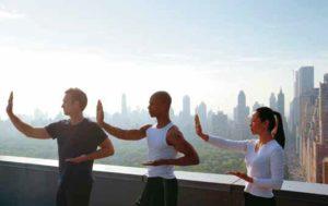 Taiji im Mandarin Oriental New York mit Blick auf den Central Park