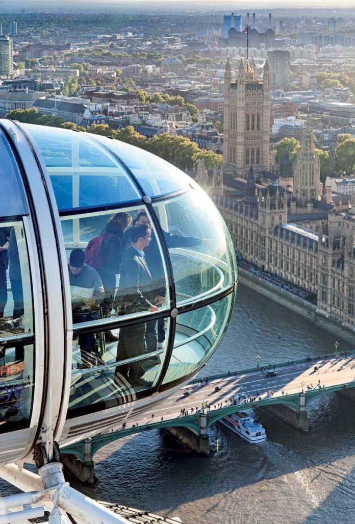 Eine Attraktion, die man nicht versäumen sollte: Das London Eye bietet auf 135 Metern Höhe einen atemberaubenden Blick über die Stadt.