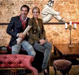 "Star-Caterer Klaus-Peter Kofler und seine Lebensgefährtin Olivia Steele, kreativer Kopf hinter dem Look der ""Prêt-à-diner""-Locations"