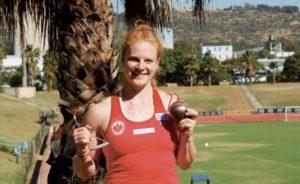Hammerwurf-Rekordhalterin und Olympia-Teilnehmerin Betty Heidler während Ihrer Vorbereitung.