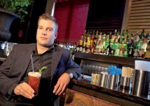 """Sascha Jockovic: """"Für mich war es eine Herausforderung, eine Spirituose mit einem so markanten Geschmack wie Jägermeister in einem Cocktail zu verarbeiten. Die fruchtige Note harmoniert perfekt mit den Kräutern."""""""