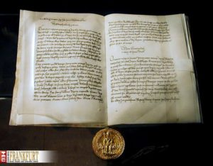 Sieben Exemplare der Goldenen Bulle gibt es, aber nur das Frankfurter genießt den Status eines Reichsexemplars