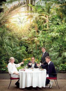 Sternekoch Alfred Friedrich, Palmengarten-Direktor Dr. Matthias Jenny und Wolfgang Otto trafen sich zum exklusiven Top Magazin BBQ im Palmengarten