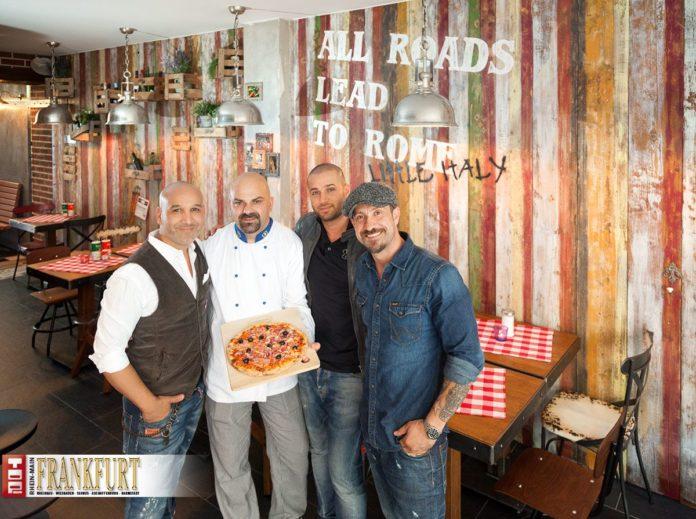 Inhaber Mo Rahimi, Chefkoch Aldo, Giuseppe Balestrieri und Inhaber Sadi Sanlav