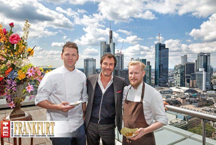 1-Sterne-Koch André Tienelt, Caterer Klaus Peter Kofler und 2-Sterne-Koch Matthias Schmidt aus der Villa Merton