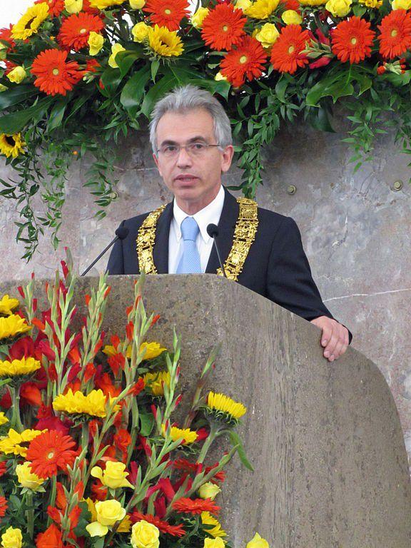 Oberbürgermeister Peter Feldmann, 2012 in der Frankfurter Paulskirche.