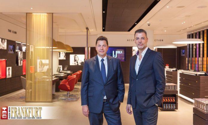Nespresso Deutschland Geschäftsführer Holger Feldmann und Retail Director Matthias Pfeifer