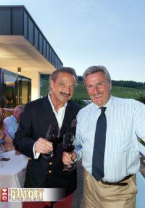 Comte Stephan von Neipperg (Weingut Château Canon La Gaffelière) und Dieter Müller kennen sich aus dem Bordeaux.