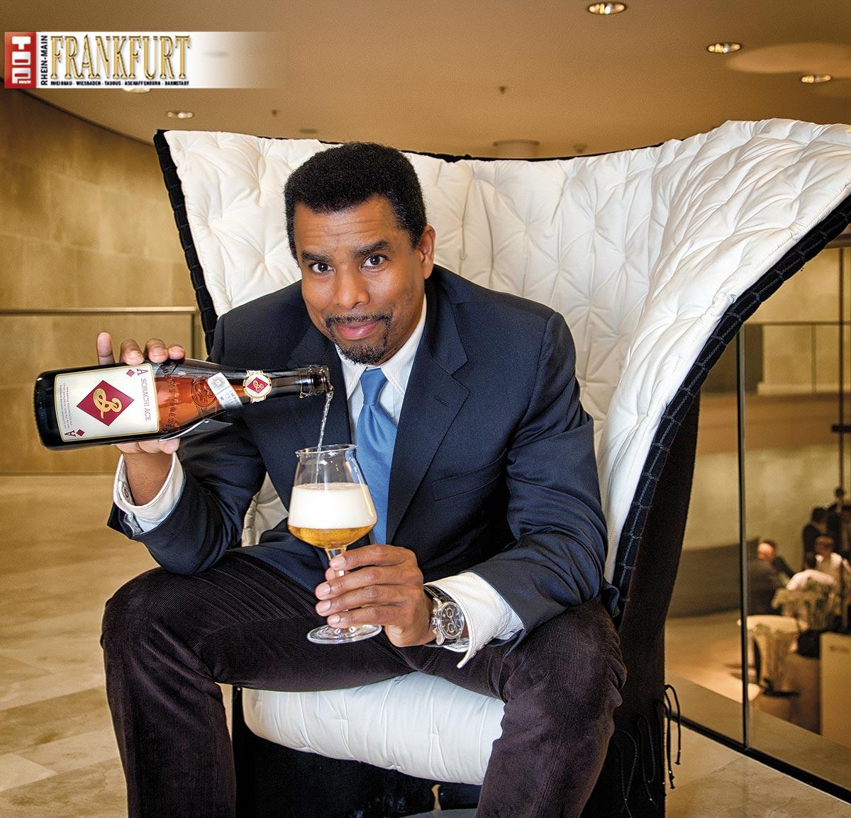 Garrett Oliver, Braumeister der Brooklyn Brewery mit seinem Sorachi Ace