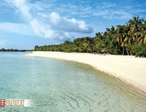 Strand von Paradise Island, von The Haven aus gesehen