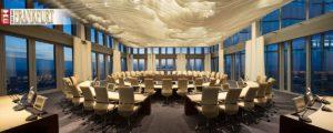 Im 41. Stock hoch über Frankfurt hält der EZB-Rat alle 14 Tage seine Sitzungen ab.