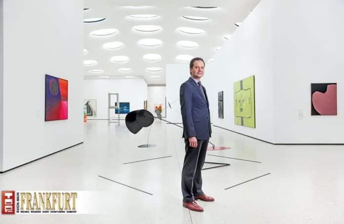 Städel-Direktor Max Hollein im Erweiterungsbau für Gegenwartskunst unter dem Städel Garten