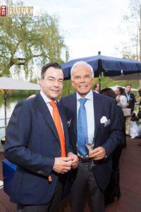 Honorarkonsul Max Hunzinger und Milliardärinnen-Gatte Prof. Adalbert Lhota (Swarovski Holding)