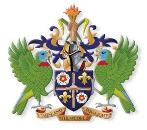 Wappen St. Lucia