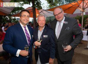 Prof. Moritz Hunzinger mit Prof. Dr. Jörg Franke und dem Botschafter des Königreichs Belgien S.E. Ghislain D'hoop