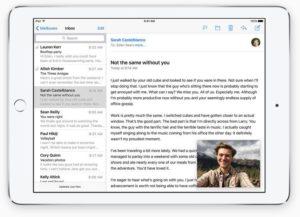 Auf dem iPad lassen sich Videos in einem kleinen Fenster betrachten.
