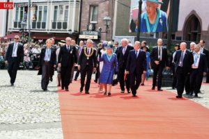 Die Organisation der Feierlichkeiten beim Besuch der Queen erforderten von Beine eine exakte Planung von langer Hand.