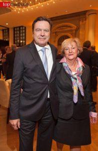 Neuer Helaba-Chef Herbert Hans Grüntker mit Gattin Kornelia