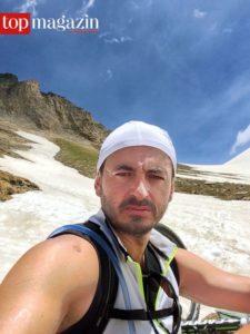 Radeln bis zur Erschöpfung - Alex Urseanu am Ende einer langen Tour. Foto: privat