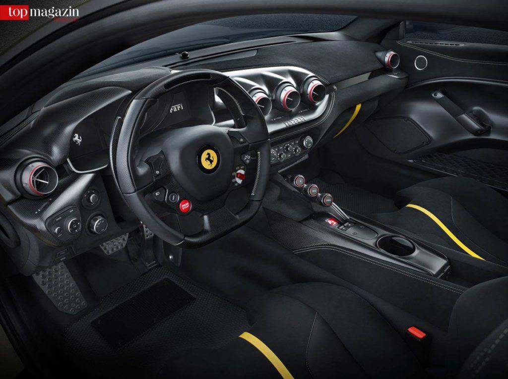 Das Interior des F12 TDF - Kniepolster statt Handschuhfach