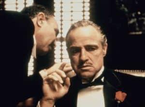 Marlon Brando in einer der berühmtesten Szenen in Der Pate (Foto Paramount Pictures)