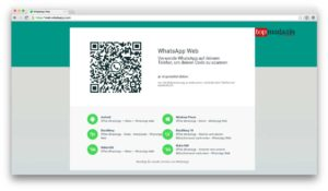 Die Einrichtung von WhatsApp Web erfolgt im Handumdrehen