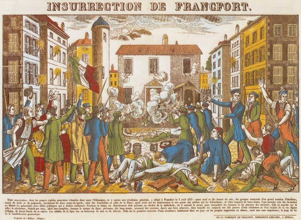 Der Wachensturm auf die Konstablerwache am 3. April 1833