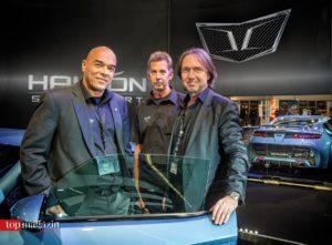 Halcón-Entwickler Rick Damm, Motorenmann Jörg Bröll und Designer Christopher Kratz