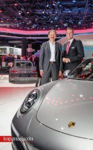 Porsche Darmstadt Geschäftsführer Wolfgang Schaller und Porsche Sales Leiter Region Mitte, Johannes Deck