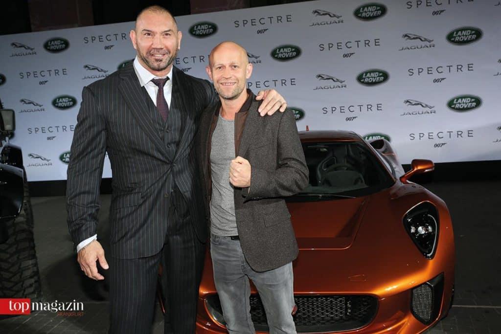'Spectre' Bösewicht Dave Bautista mit Schauspieler Jürgen Vogel