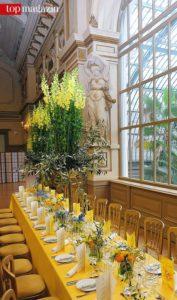 Die Dekoration für den Frühlingsball - meterhohe Löwenmäulchen