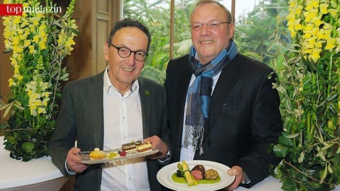 Palmengarten-Chef Dr. Matthias Jenny mit Blumenpapst Erhard Priewe