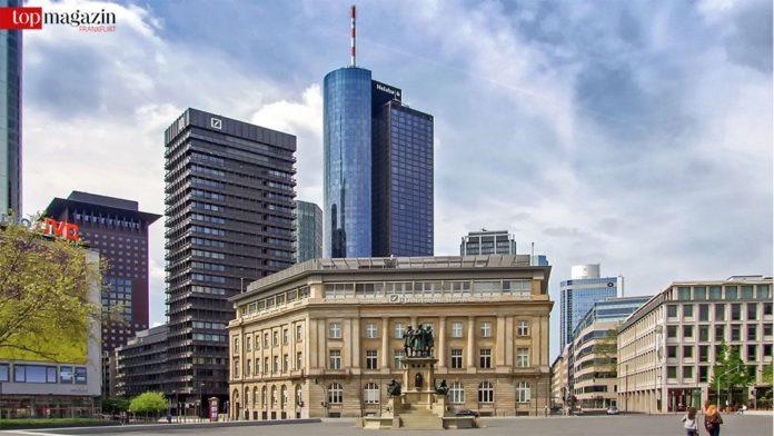 Der neue Hochhauskomplex wird hinter der Filiale der Deutschen Bank entstehen.