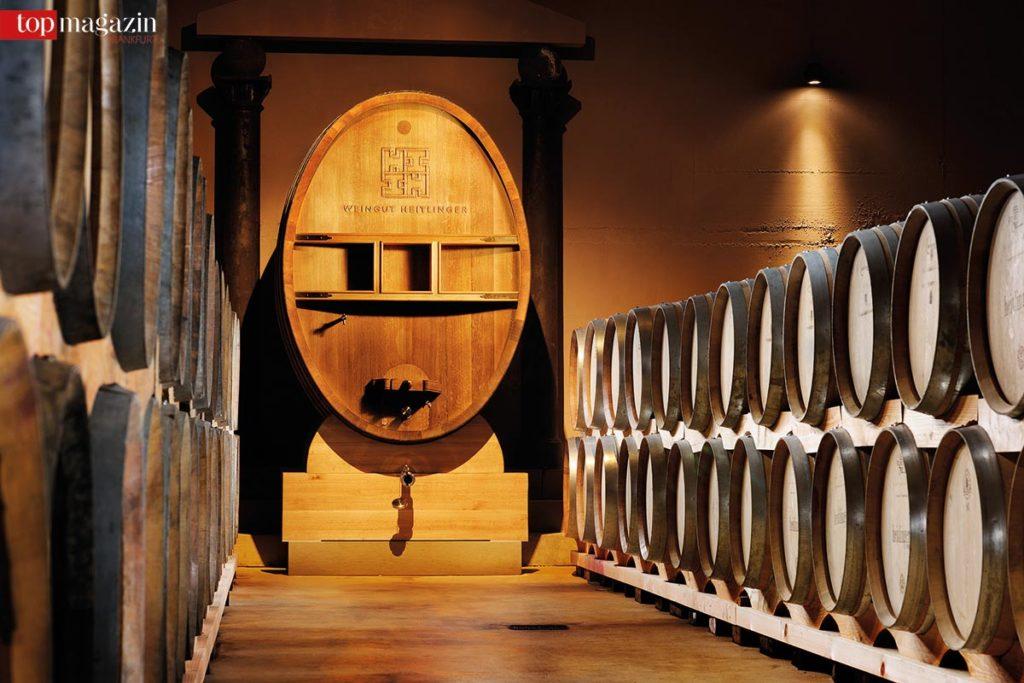 Der Keller im Weingut Heitlinger