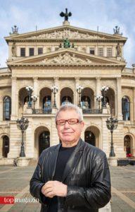Daniel Libeskind vor der Alten Oper