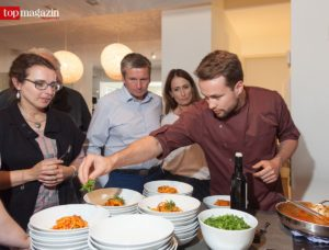 "Christoph Kubenz (A casa di Tomilaia) mit seinem Restaurantklassiker ""Spaghettoni Don Tommasino"""