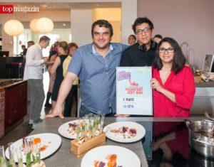Das La Cevi-Team - Daniel und Heidi Nawenstein mit Küchenchef Diego Velazquez