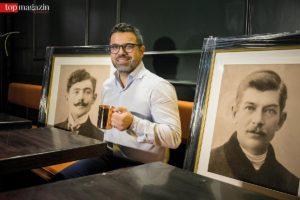 Vorstand der neu gegründeten Initiative Gastronomie Frankfurt e.V. Madjid Djamegari in seiner 'Pearly Gates'-Bar