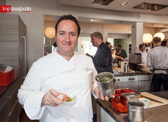 Stammgast auf Platz 1 der Rubrik Italien Fine Dining - Carmelo Creco mit seiner virtuellen Auster