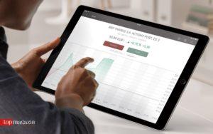 Über das iPad oder Tablet lässt sich bequem eine Kaufs- oder Verkaufsorder platzieren.